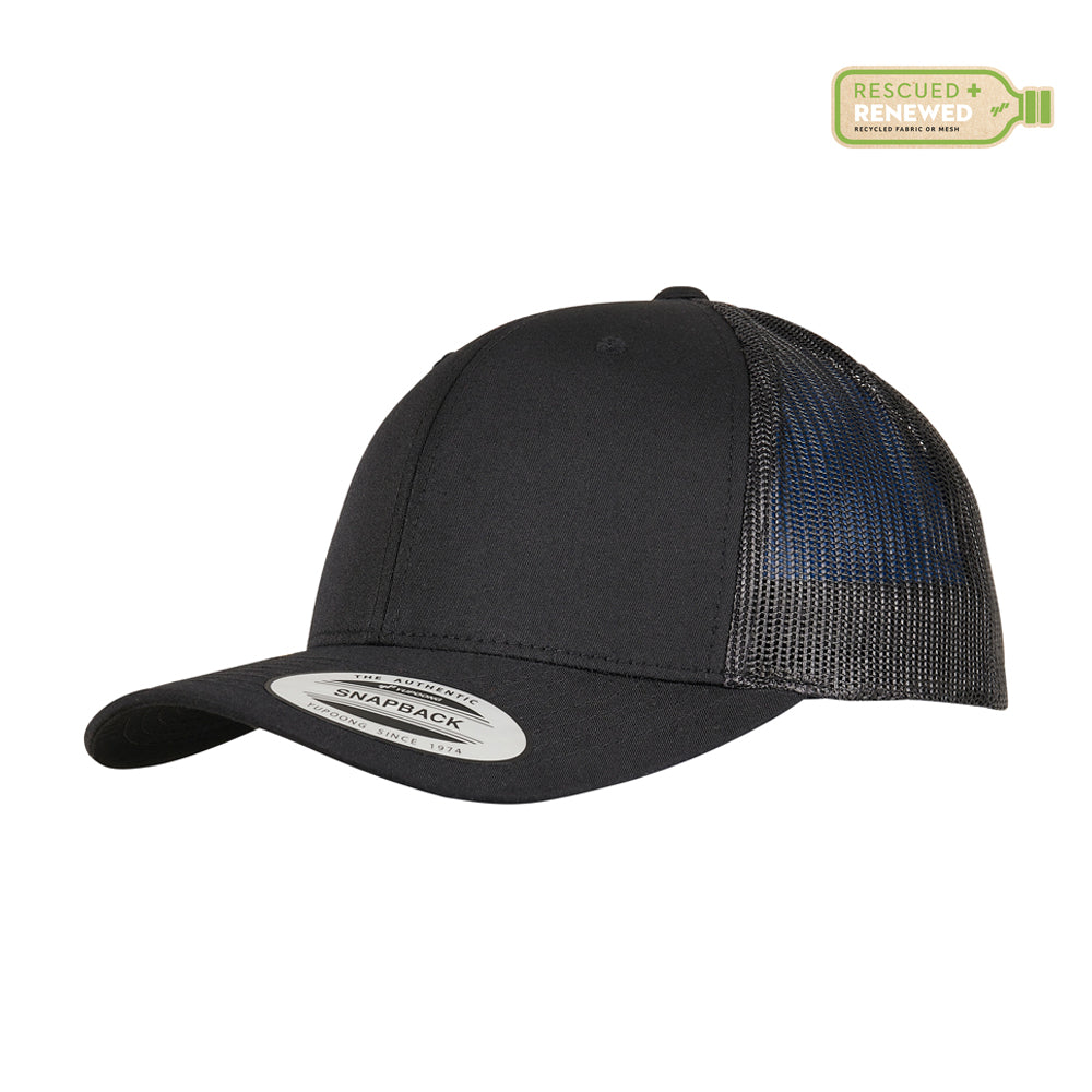 Flexfit Trucker 6 Panel Recycled Snapback Black Sort BB 6606TR-BLK