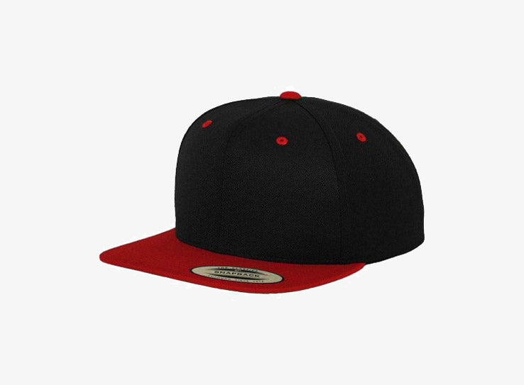 Yupoong Youth Snapback 6089YOUTH Black Red Sort Rød
