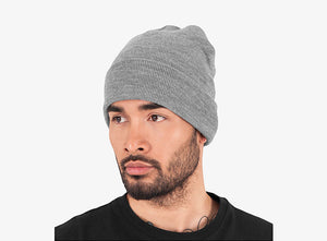 Yupoong - Fold Up Beanie - Heather Grey