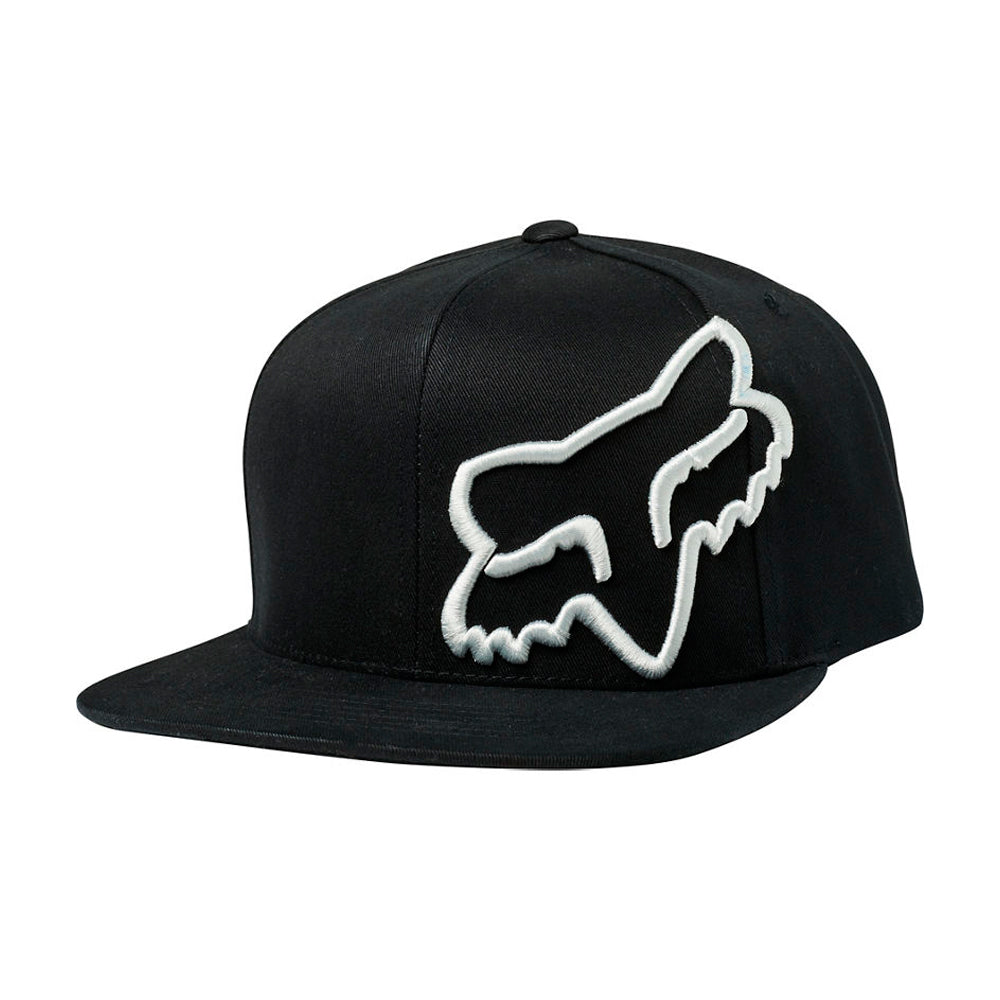 Fox Headers Snapback Black White Sort Hvid