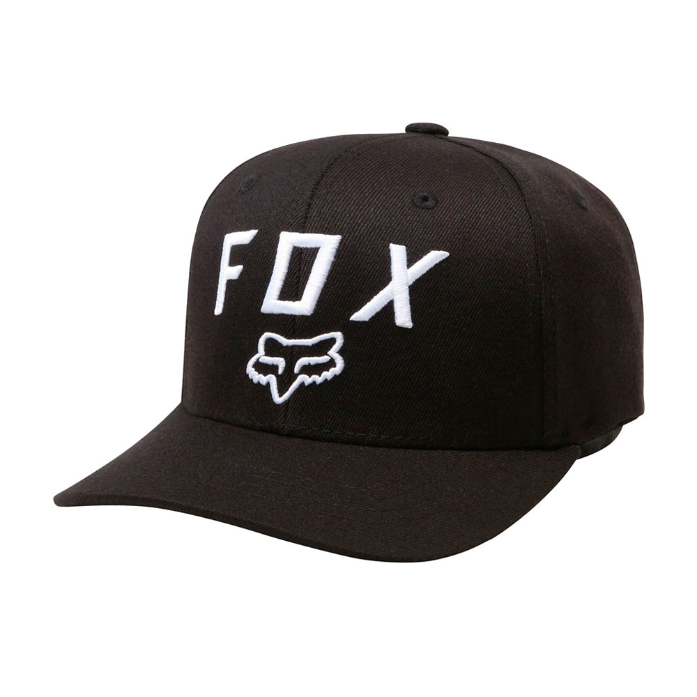 Fox 20762-001 Legacy Moth 110 Snapback Black White Sort Hvid