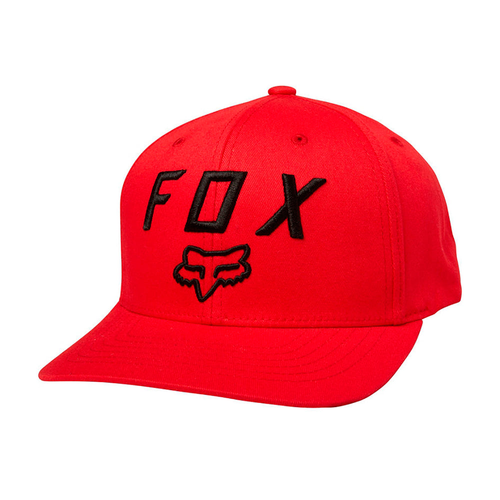 Fox Legacy Moth 110 Snapback Dark Red Black Rød Sort