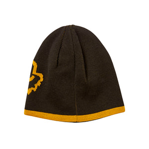 Fox 20790-019 Streamliner Beanie Black Yellow Sort Gul Reversible knit beanie Vendbar Strikhue
