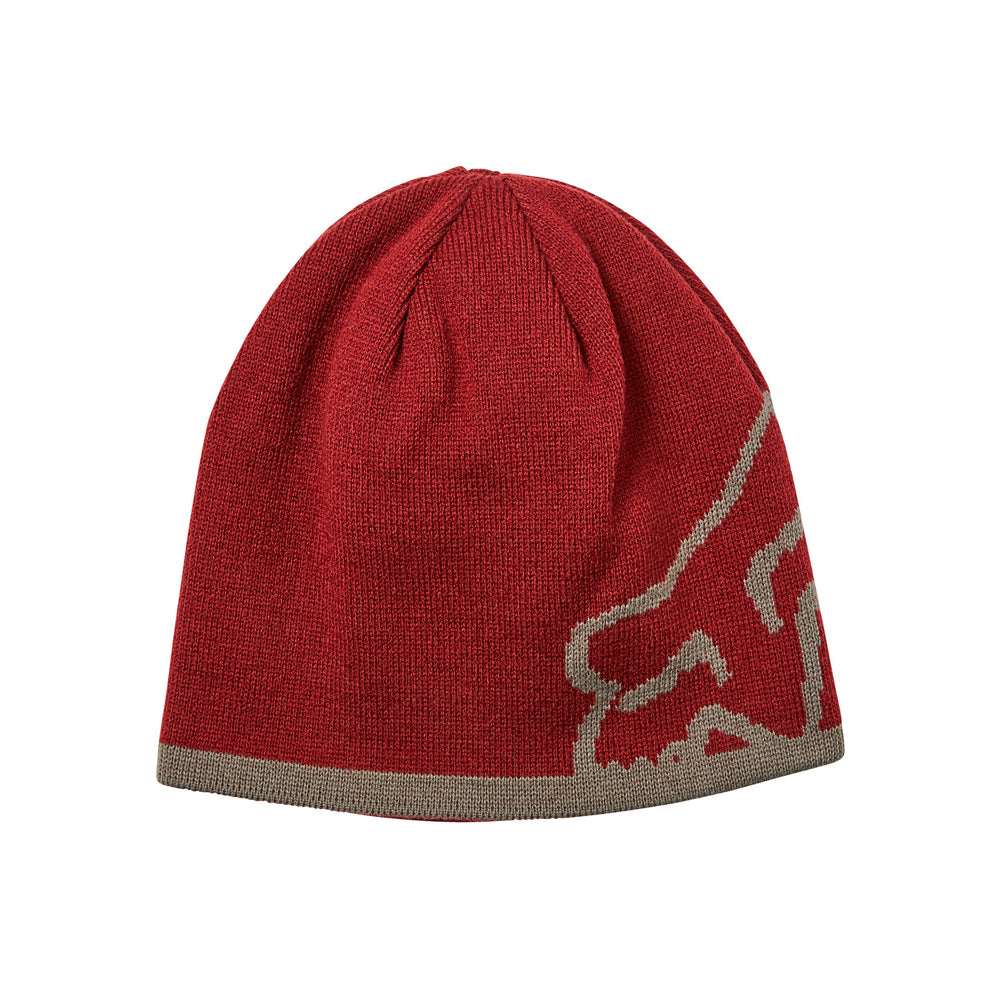 Fox 20790-527 Streamliner Beanie Cranberry Grey Rød Grå Reversible knit beanie Vendbar Strikhue