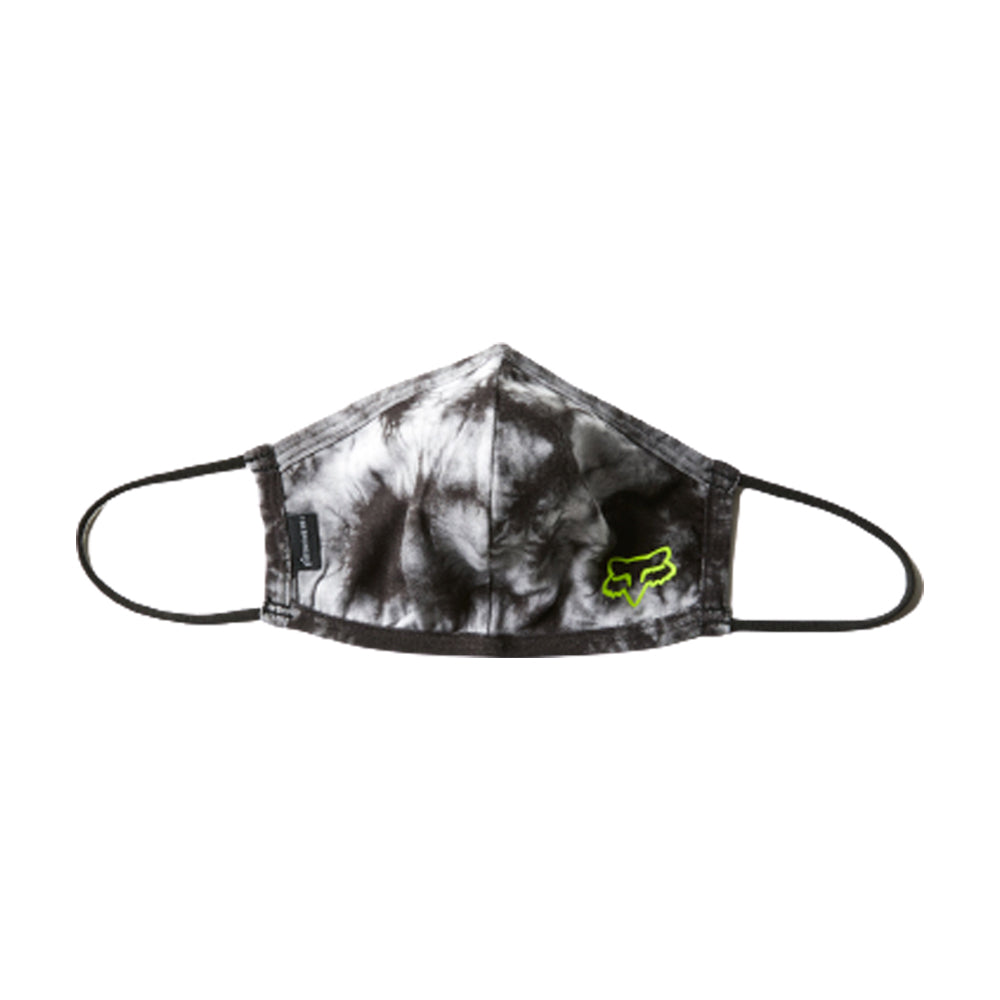 Fox Tie Dye Face Mask Black Grey Sort Grå 28765-001