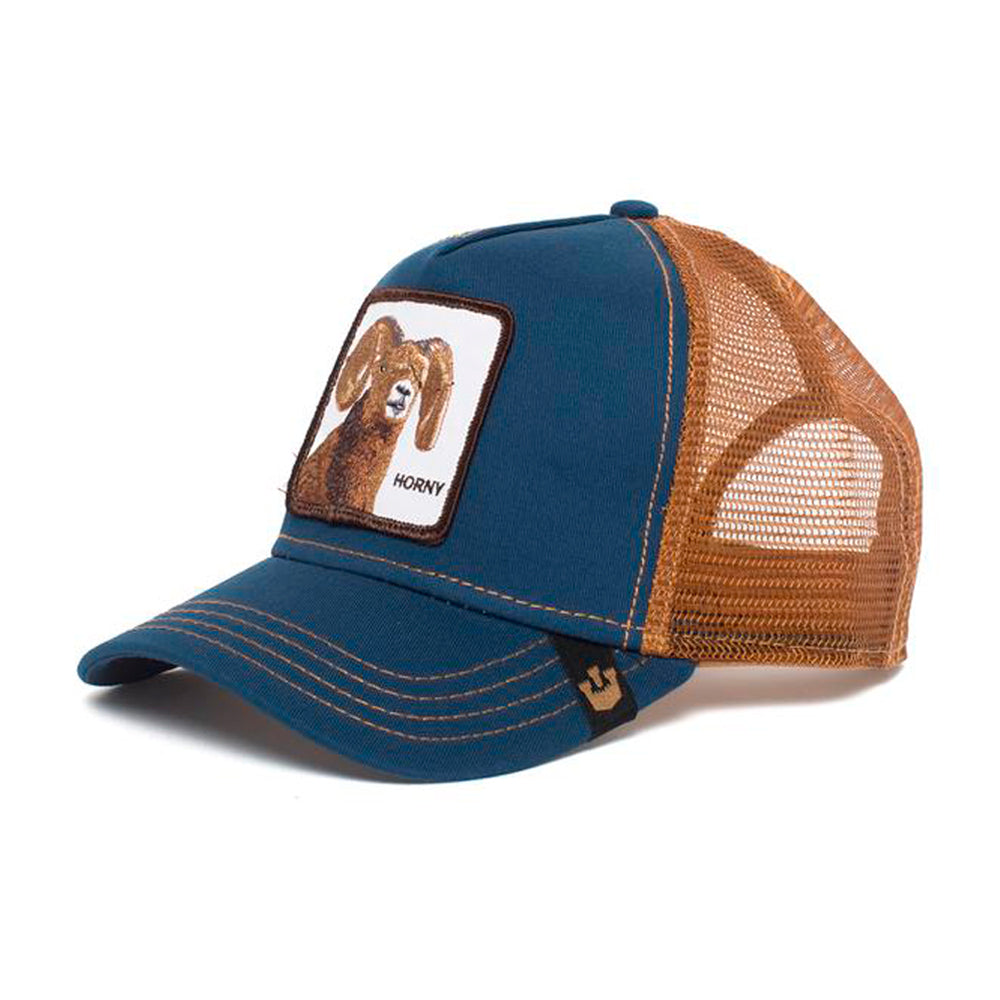 Goorin Bros Big Horn Trucker Snapback Navy Brown Blå Brun