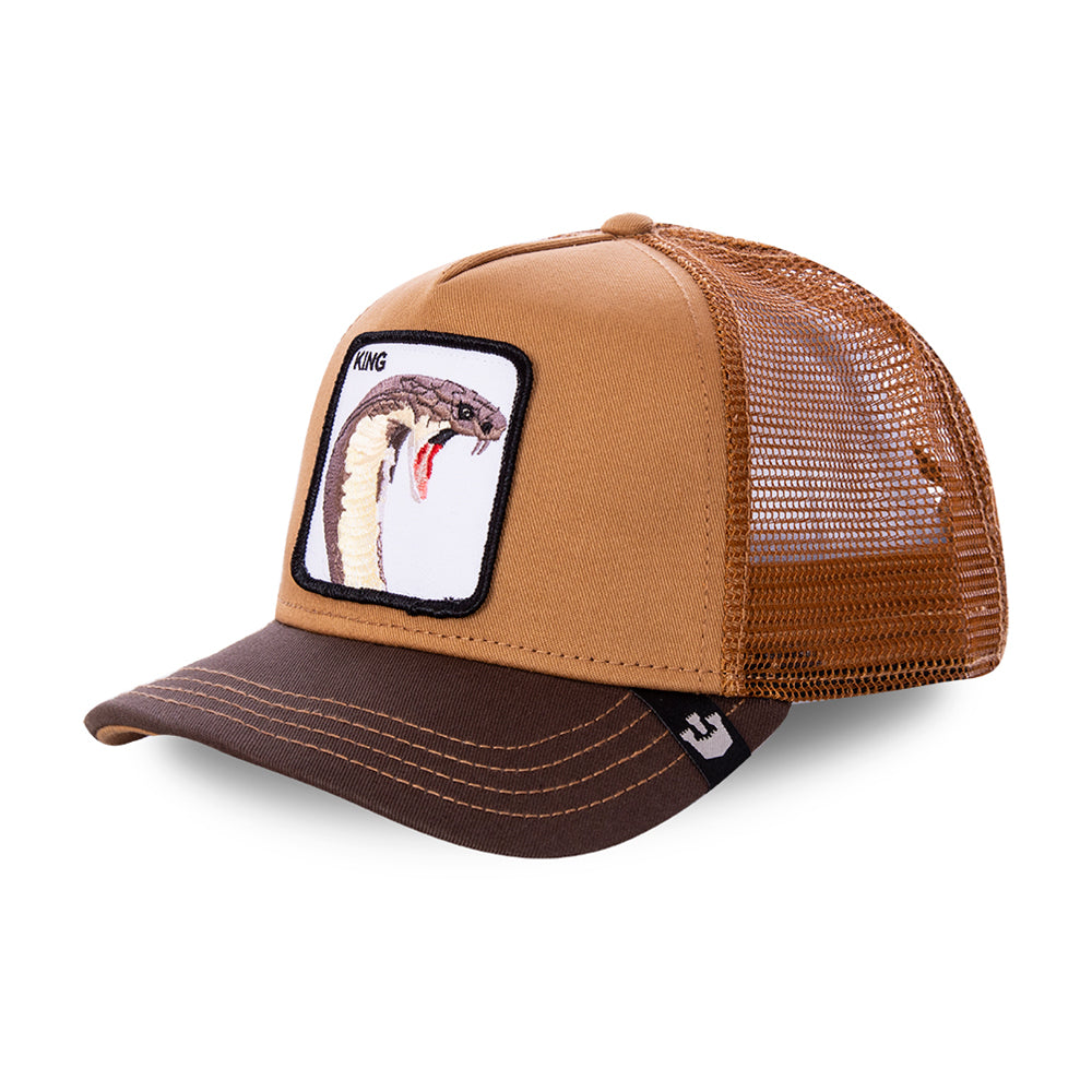 Goorin Bros Biter King Snake Trucker Snapback Brown Brun