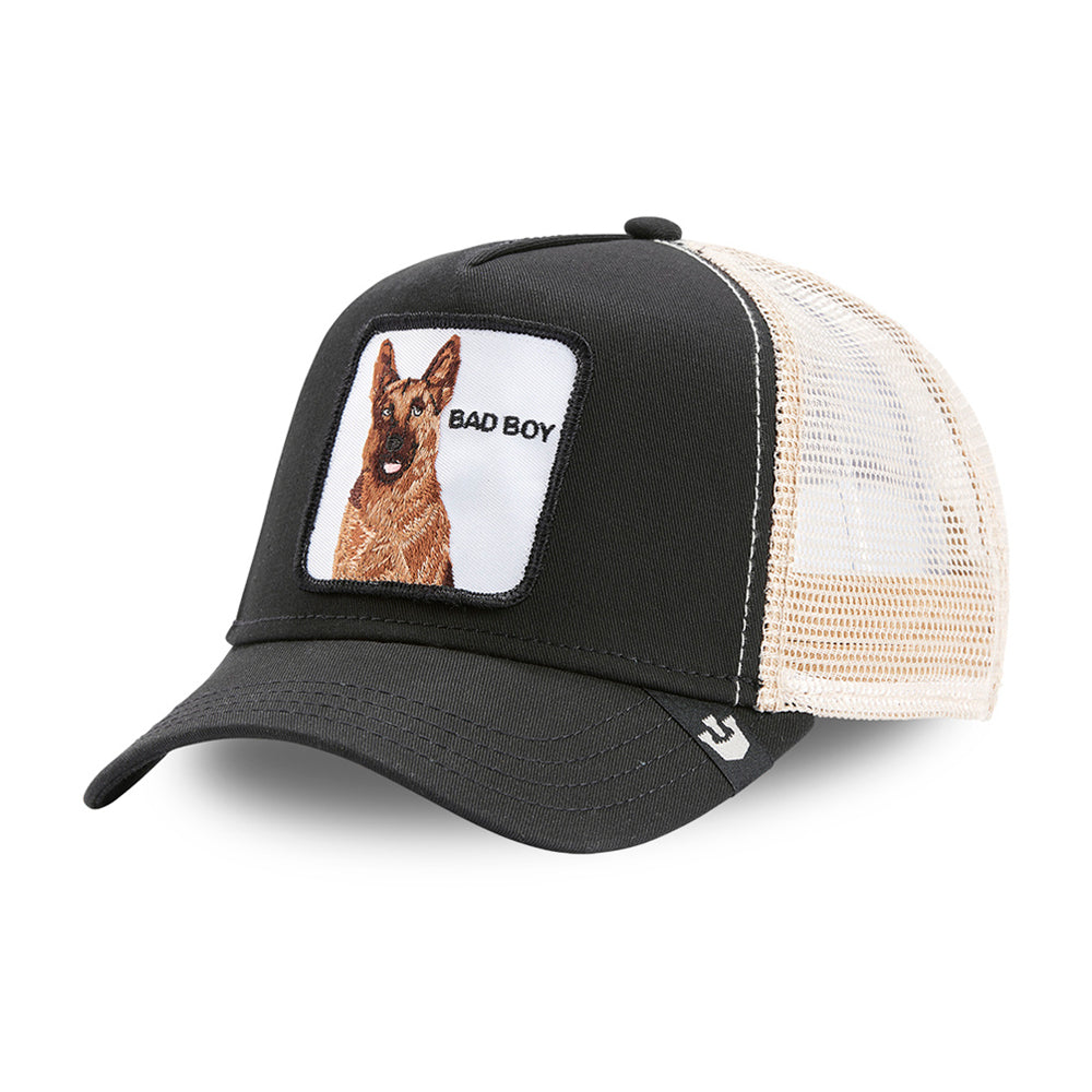 Goorin Bros Bad Boy Bouncer German Shepherd Trucker Snapback Grey Grå