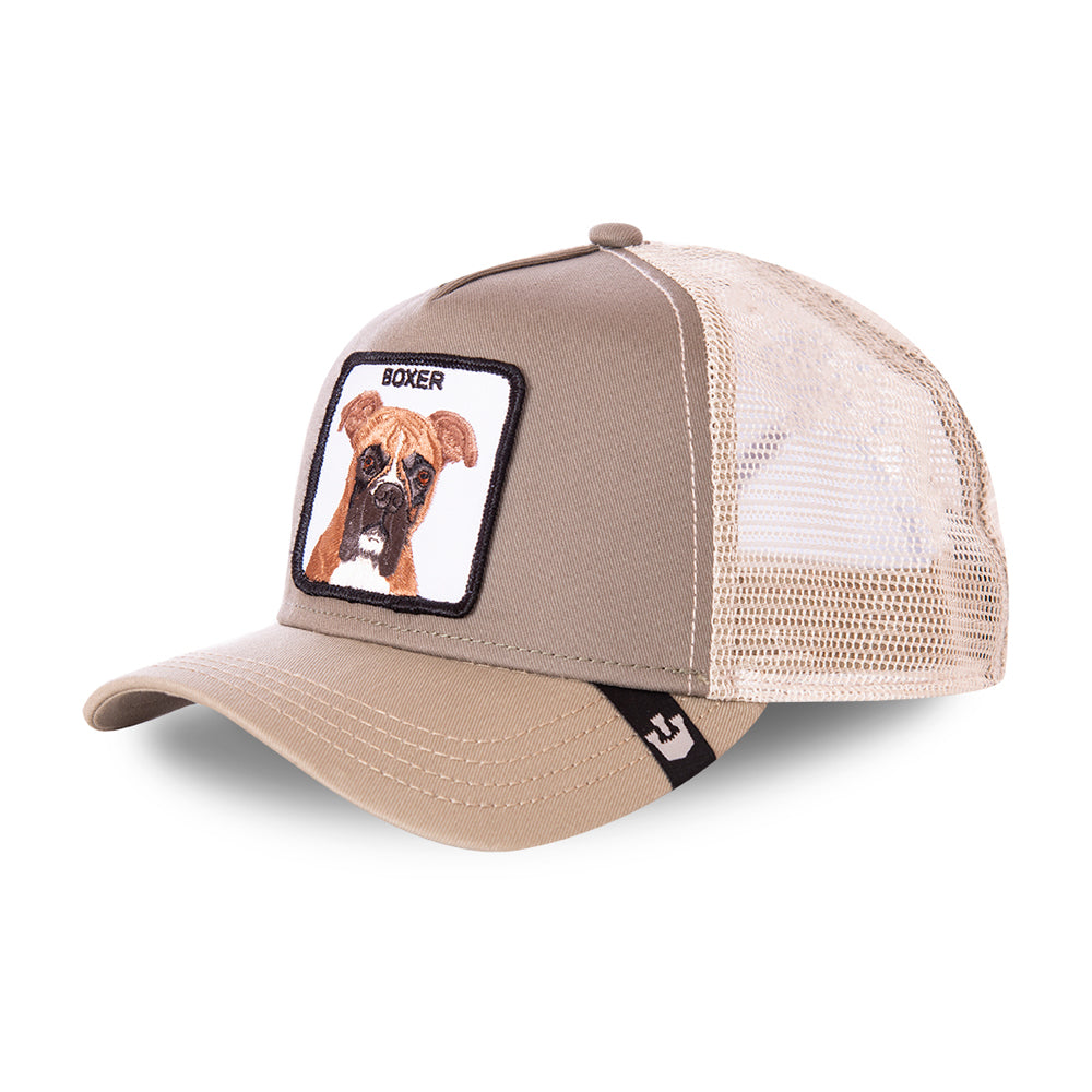 Goorin Bros Boxer Dog Trucker Snapback Grey Grå