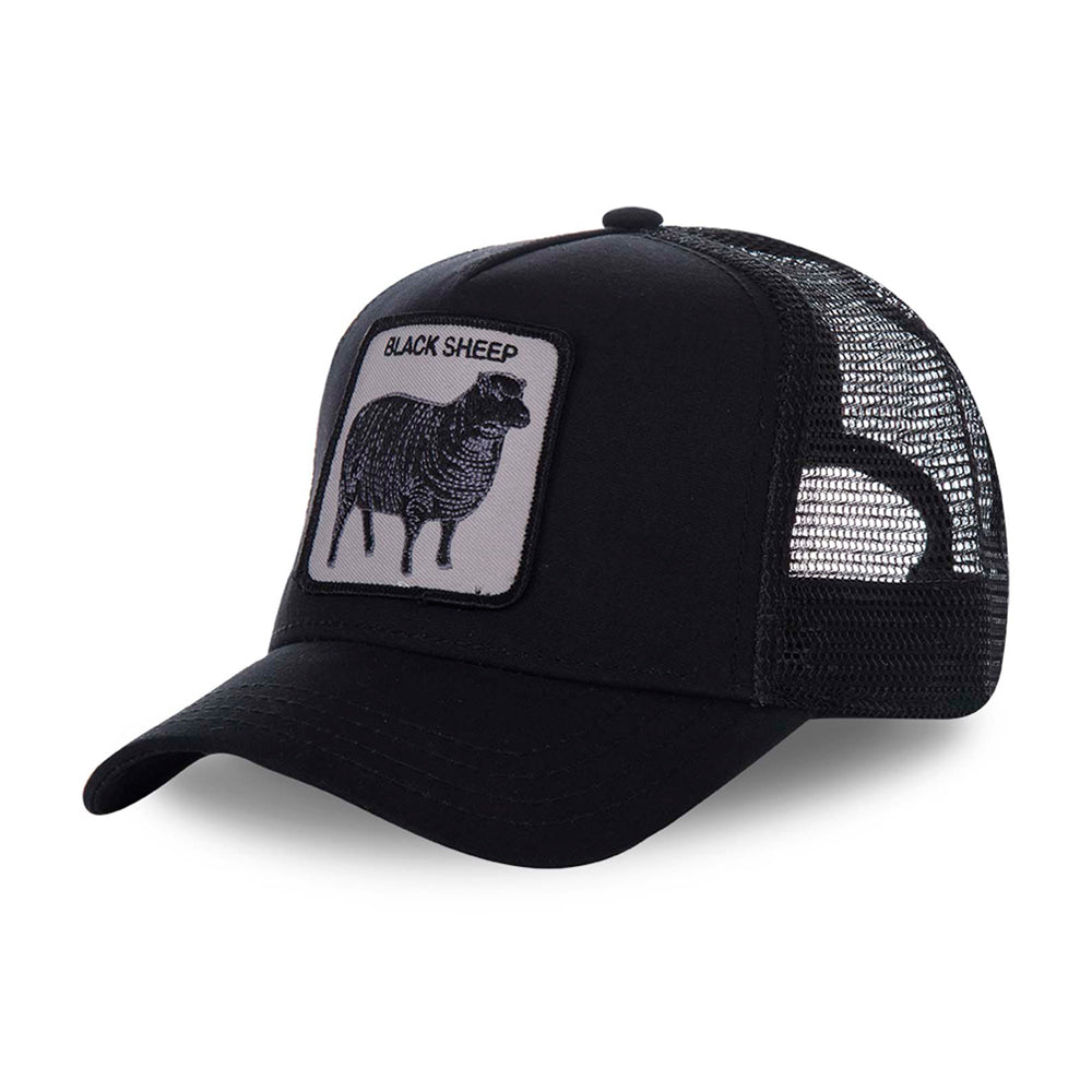 Goorin Bros Naughty Lamb Trucker Snapback Black Sort
