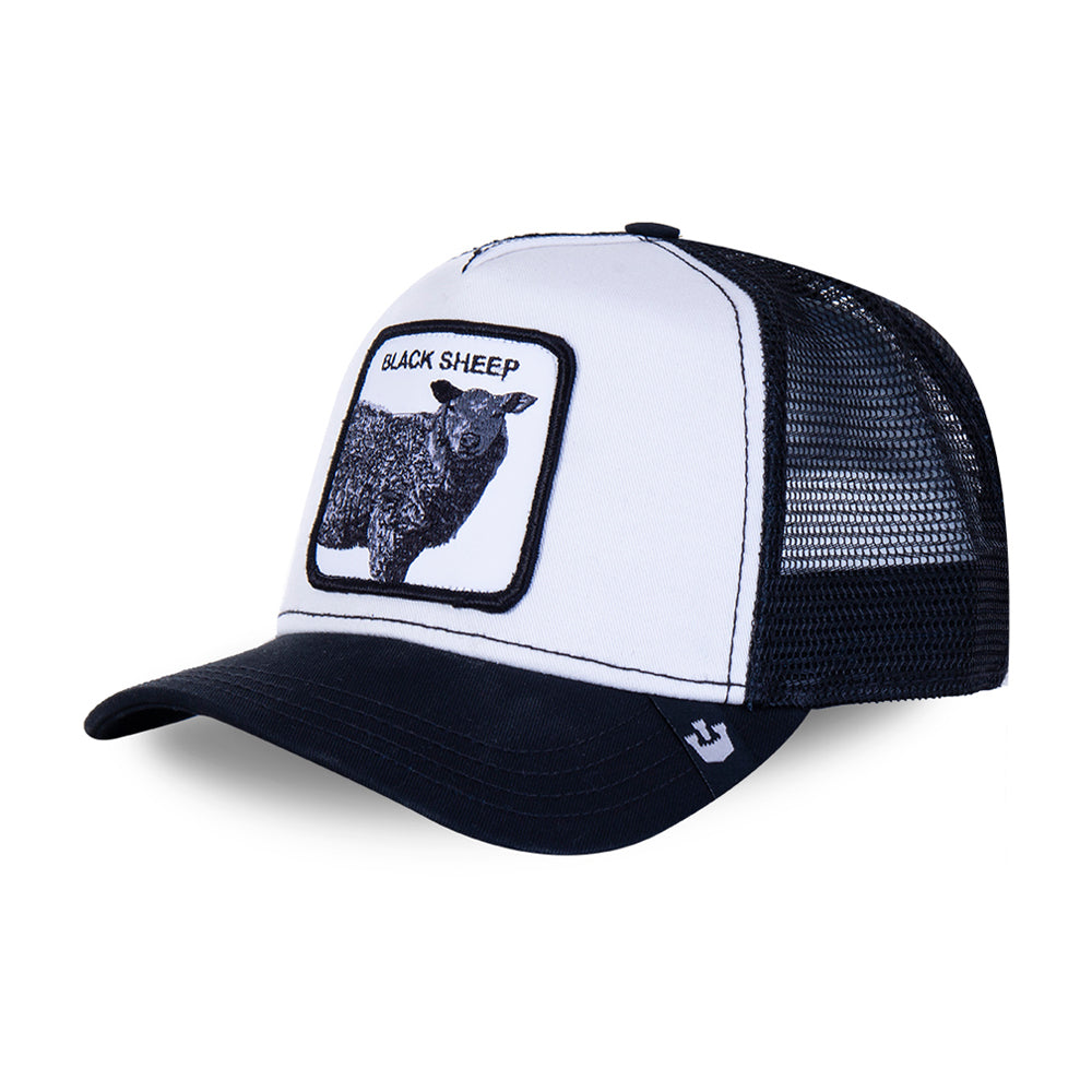 Goorin Bros Revolter Black Sheep Trucker Snapback White Hvid