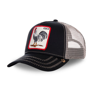 Goorin Bros Rooster Trucker Snapback Black Sort