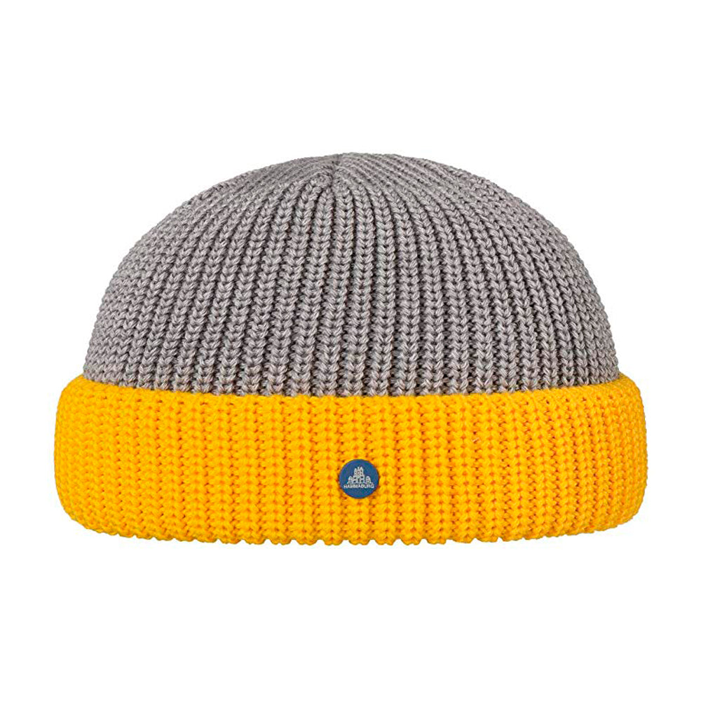 Hammaburg Docker Knit Fold Hue Grey Yellow Grå Gul