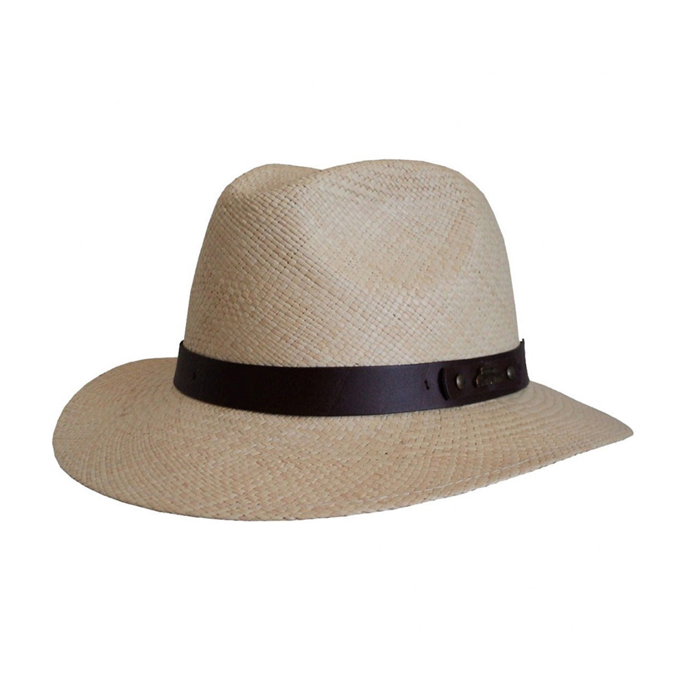 Headzone Panama Straw Hat Fedora Hat Natural Beige