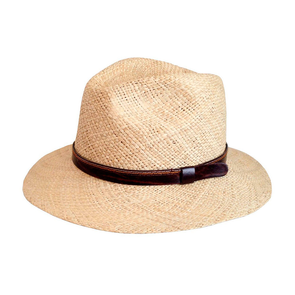 Headzone Straw Hat Fedora Hat 2888 Natural Beige