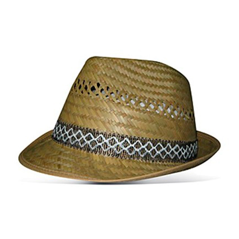 Headzone Straw Hat Fedora Hat 2865 Natural Beige