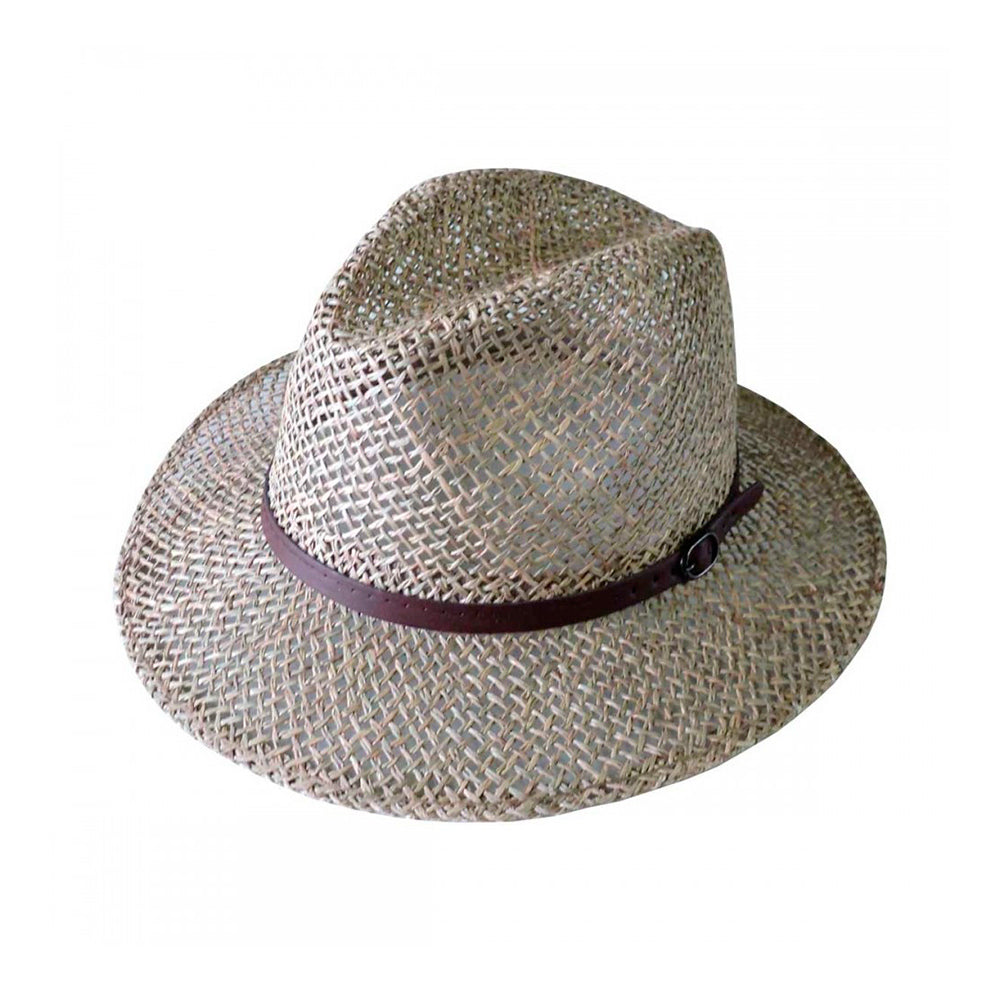 Headzone Straw Hat Fedora Hat 2888 Tan Brown Brun