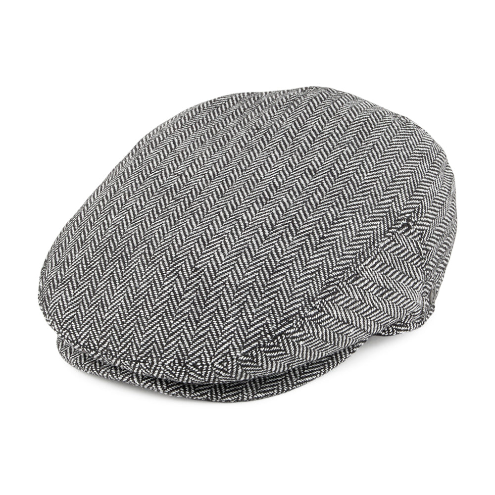 Jaxon & James Herringbone Sixpence Flat Cap Grey Grå
