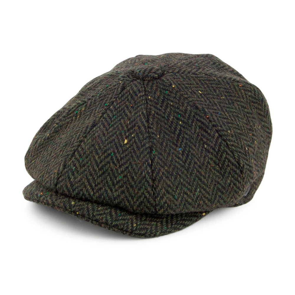 Jaxon & James Bronx Newsboy Cap Sixpence Flat Cap Forest Green Grøn