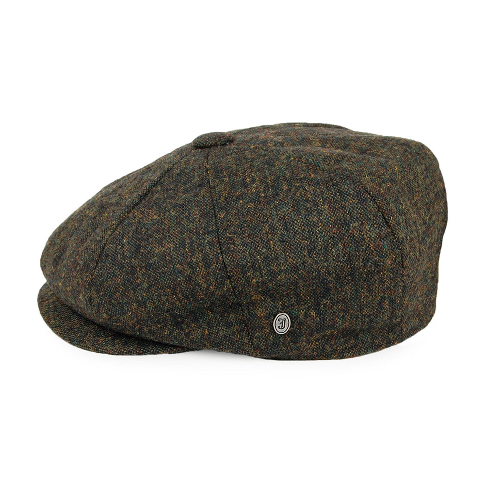Jaxon & James Falconbrook Newsboy Cap Sixpence Flat Cap Forest Green Skovgrøn Grøn