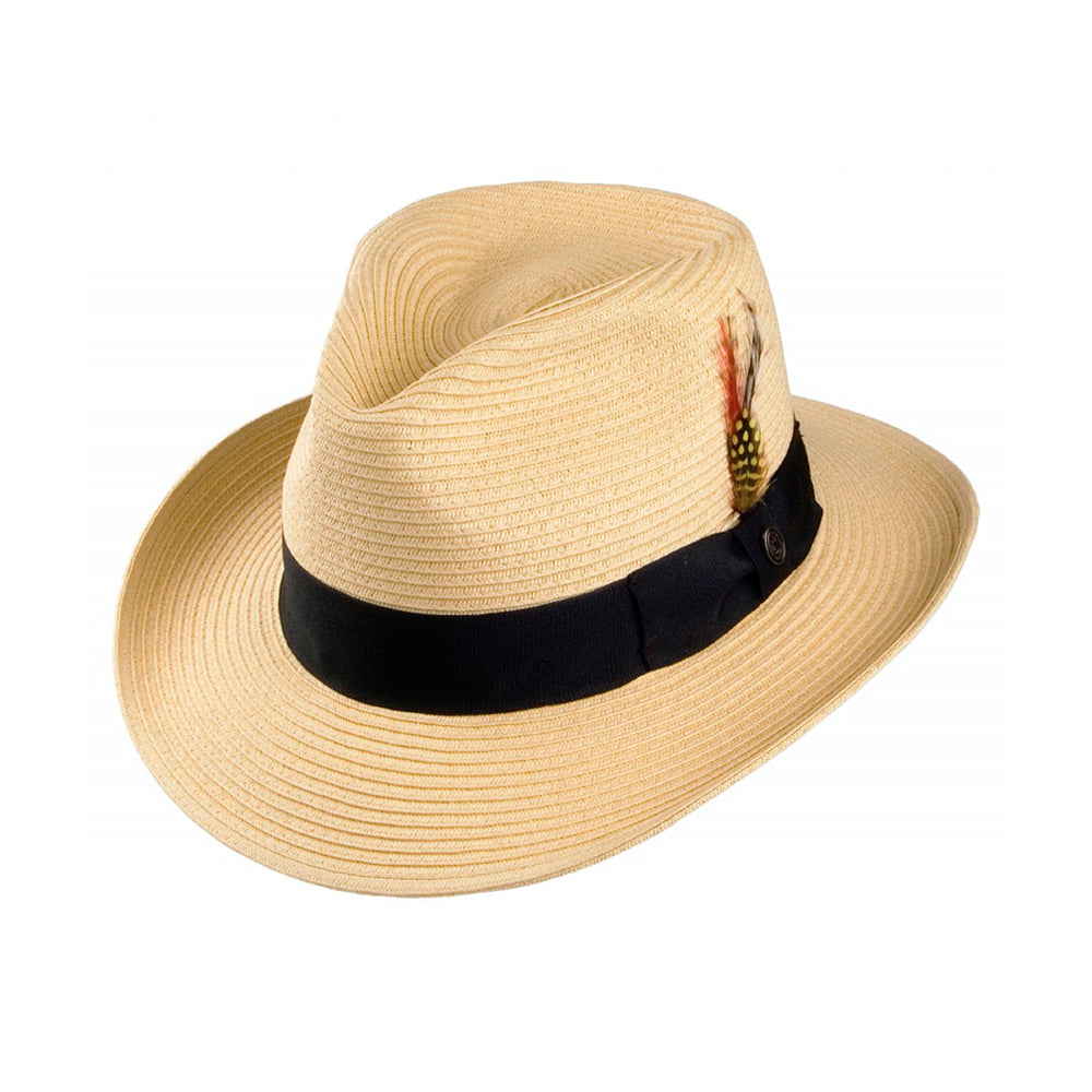 Jaxon & James Summer C Crown Straw Hat Natural Beige Black Sort