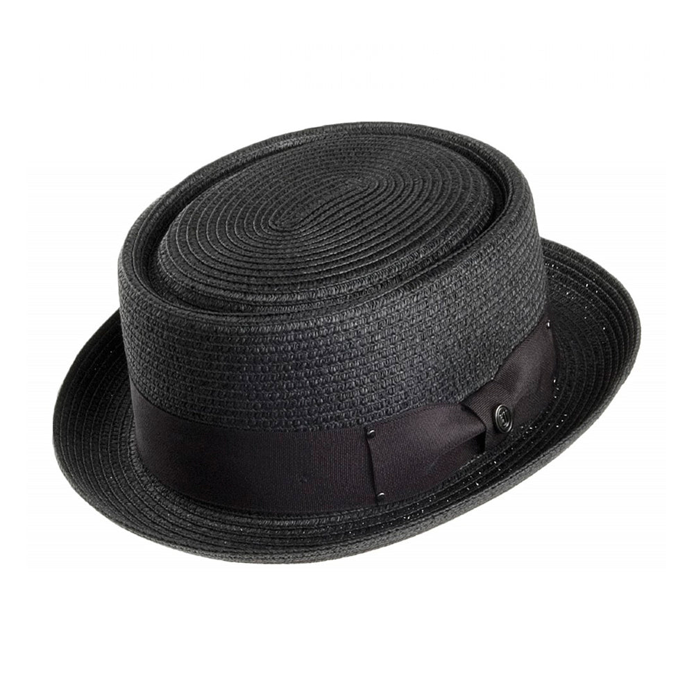 Jaxon & James Toyo Braided Pork Pie Hat Straw Hat Black Sort