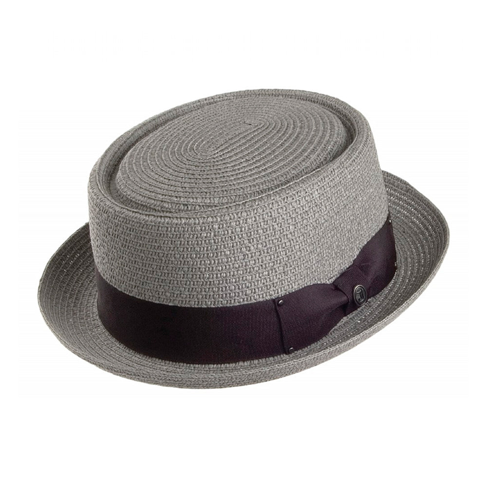 Jaxon & James Toyo Braided Pork Pie Hat Straw Hat Grey Grå