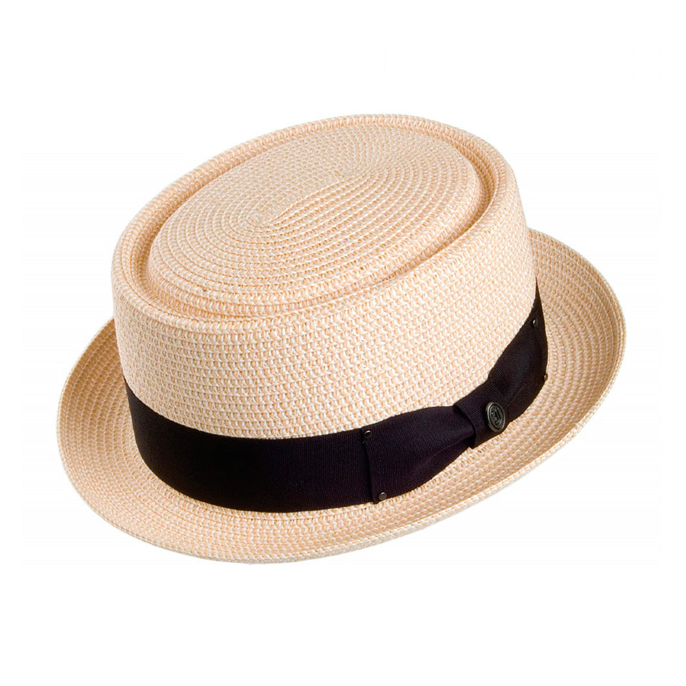 Jaxon & James Toyo Braided Pork Pie Hat Straw Hat Natural Beige