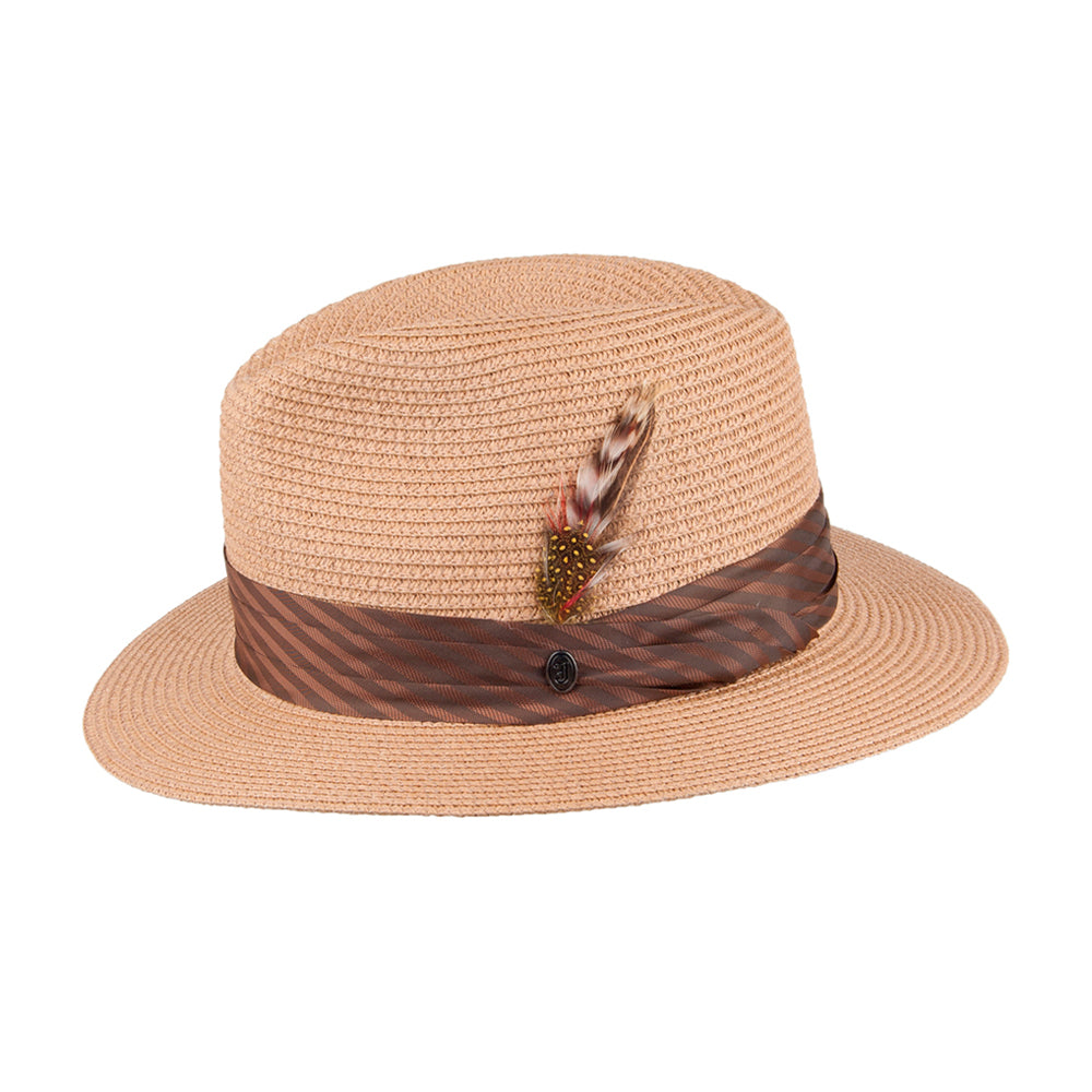 Jaxon & James Toyo Braided Straw Hat Strå Hat Cappuccino Brown Brun
