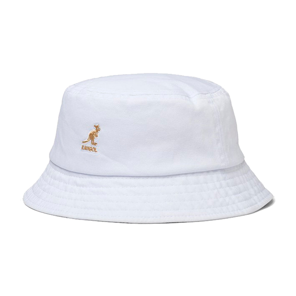 Kangol Washed Bucket Hat White Hvid