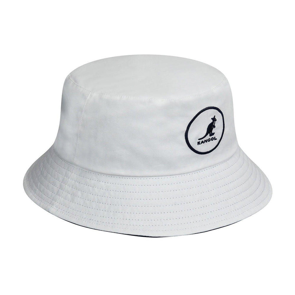 Kangol Cotton Bucket Hat White Hvid