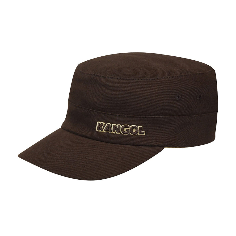 Kangol Cotton Twill Army Cap Flexfit Brown Brun 9720BC