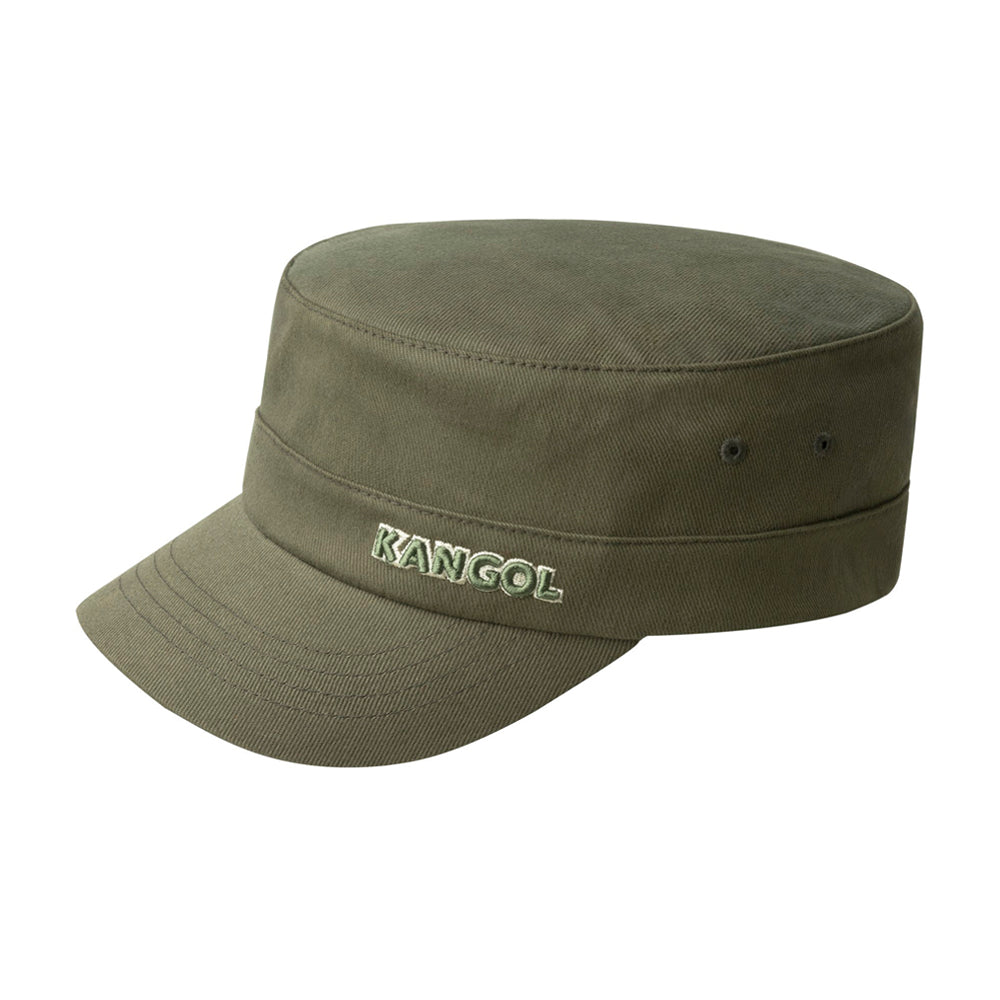 Kangol Denim Flexfit Army Cap Flexfit  Army Green Grøn Olive