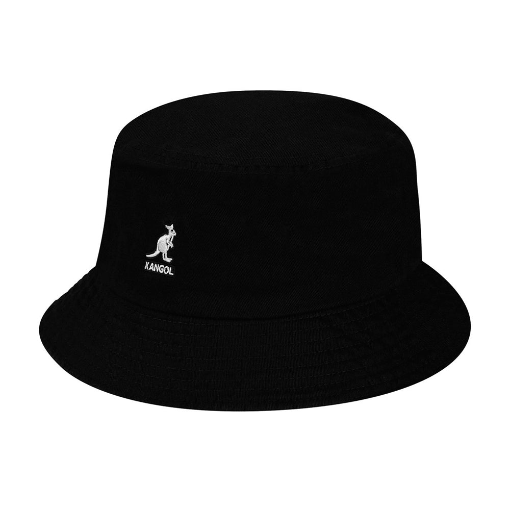 Kangol Washed Bucket Hat Black Sort