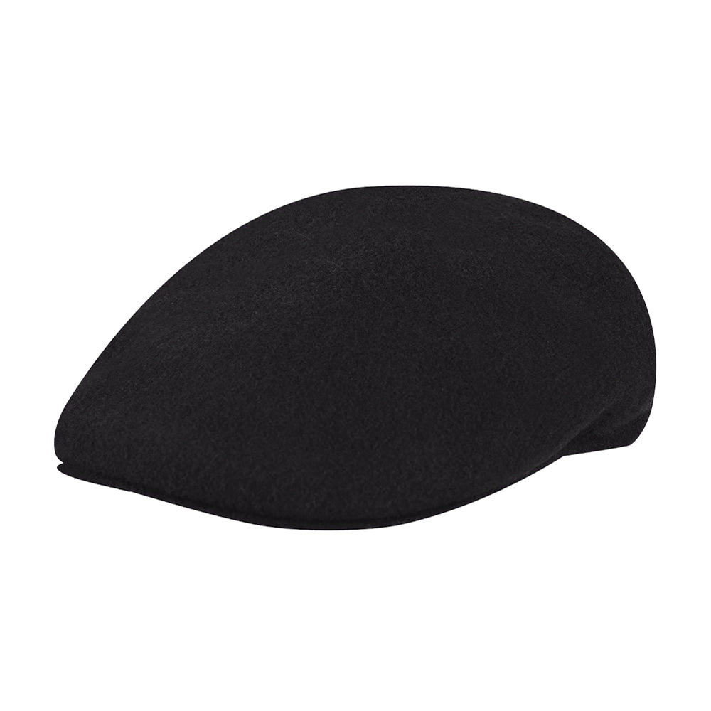Kangol Wool 504 Sixpence Flat Cap Black Sort