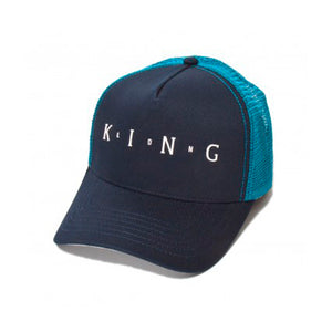 King Apparel Aldgate Mesh Trucker Snapback Ink Light Blue Blå