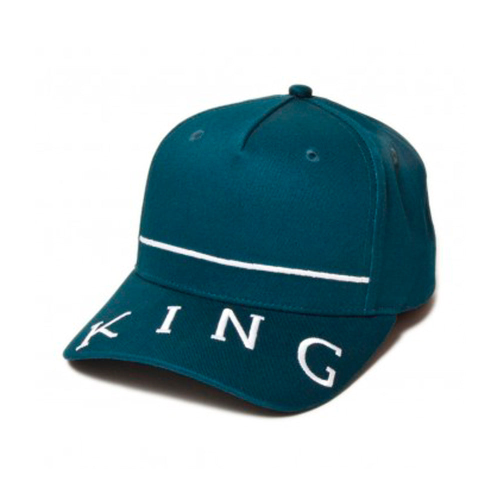 King Apparel Leyton Curved Peak Snapback Ink Navy Blå