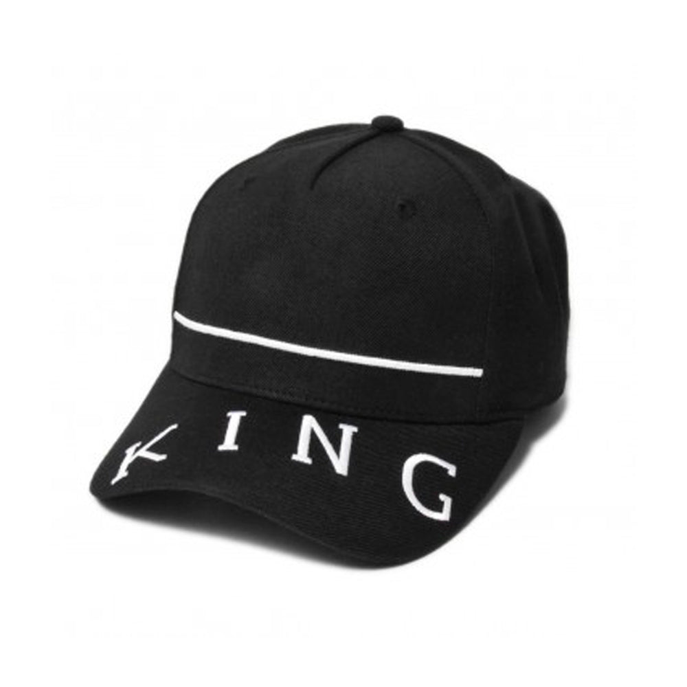 King Apparel Leyton Curved Peak  Snapback Black Sort