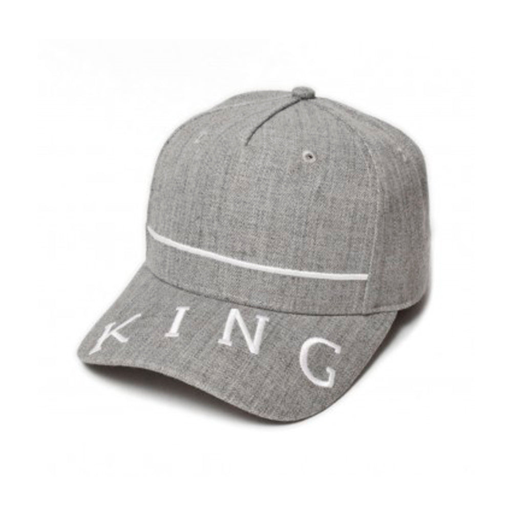 King Apparel Leyton Curved Peak Snapback  Stone Grey