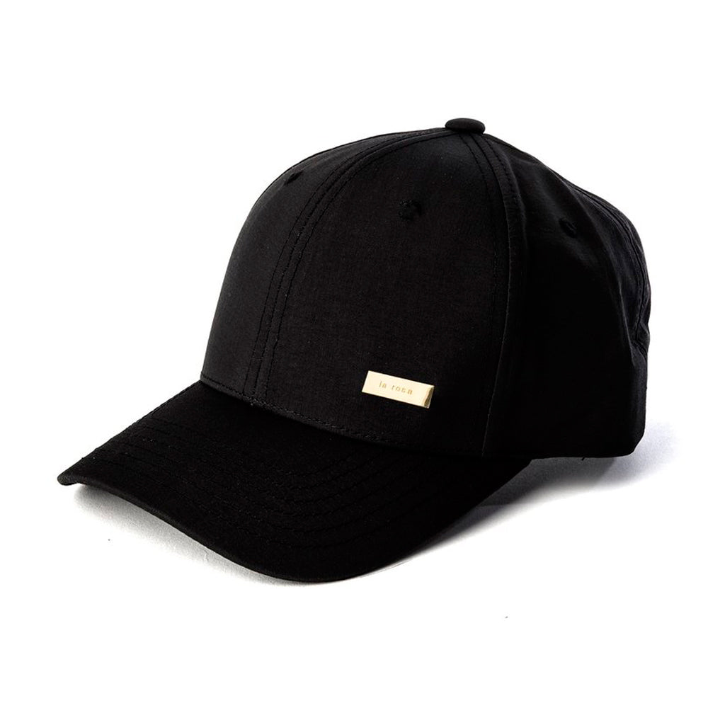 La Rosa Gold Logo Snapback Black Gold Sort Guld