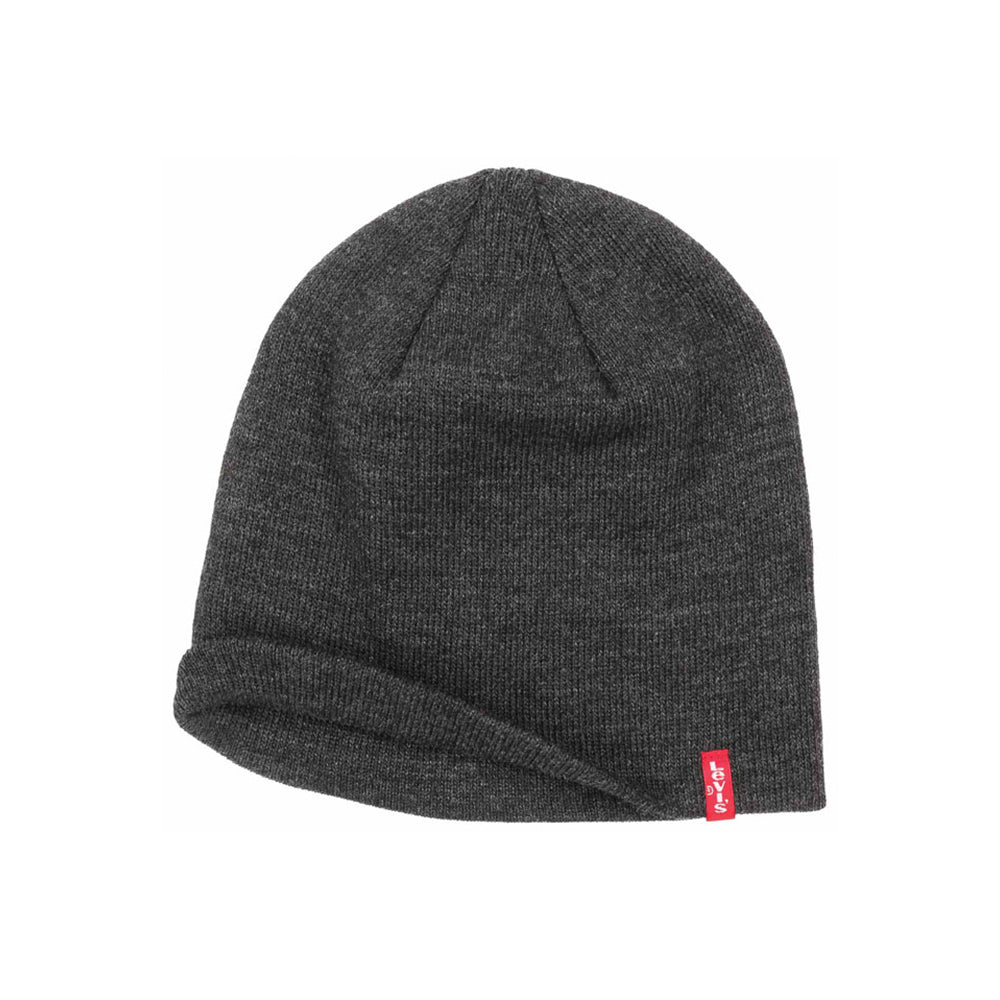 Levis Otis Pull On Beanie Dark Grey Mørkegrå