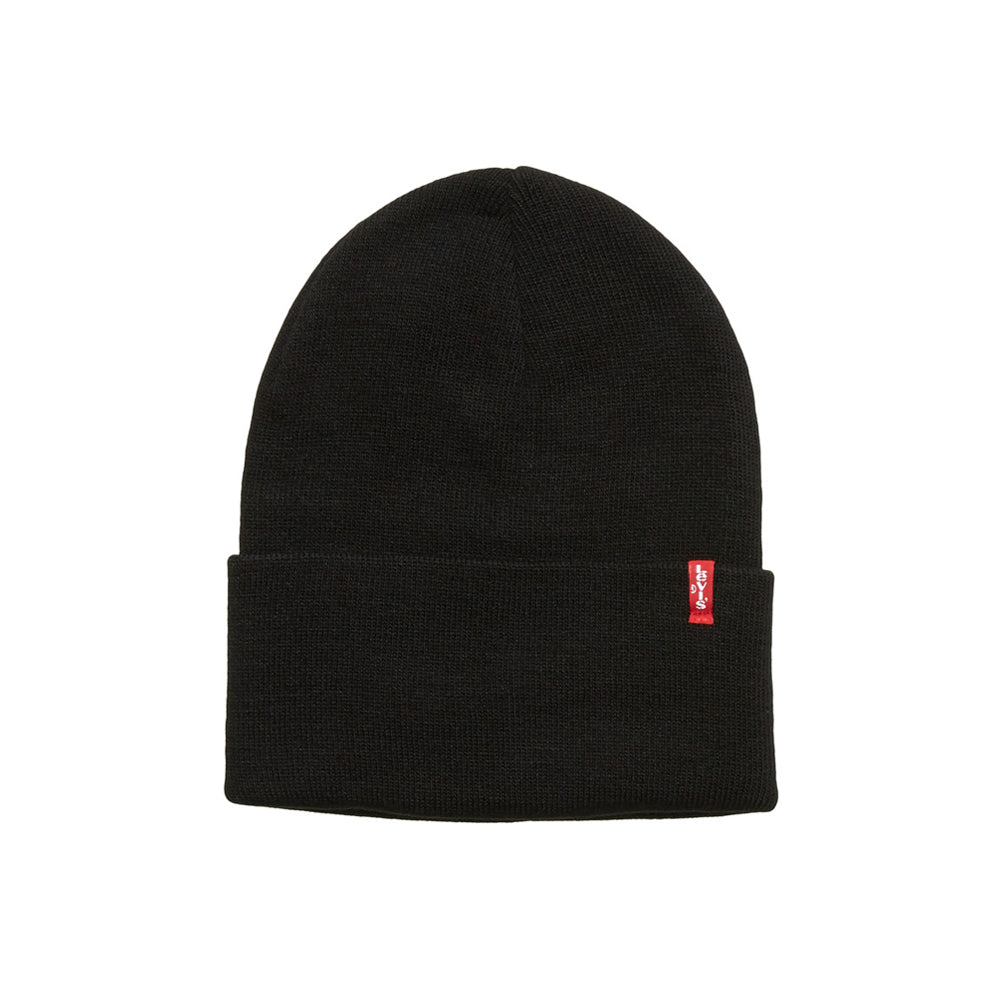Levis Levi's Slouchy Red Tab Beanie Black Sort