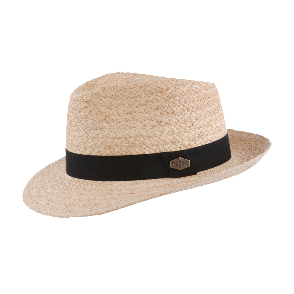 MJM Hats Aalst 58022 Raffia Straw Hat Natural Beige
