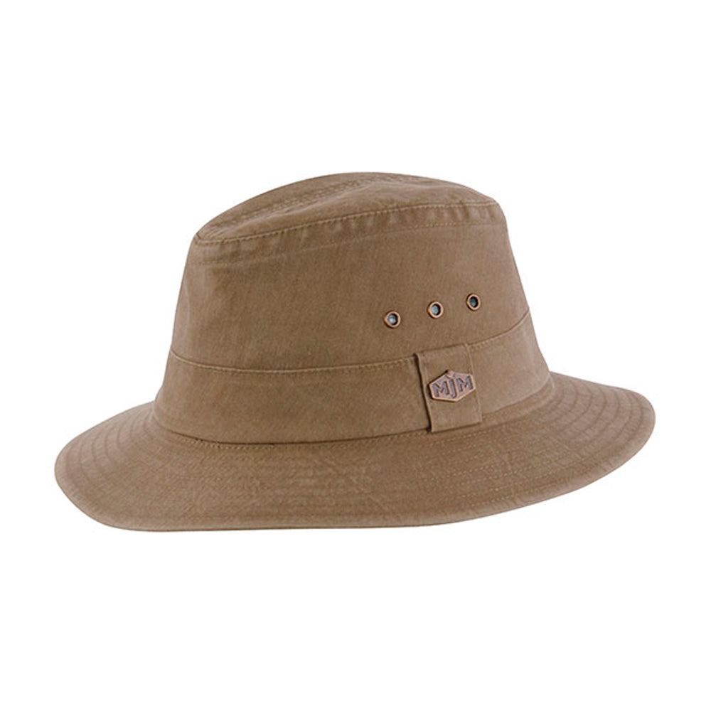 MJM Hats Assen 58026 Traveler Hat Ferdora Olive Brown Brun