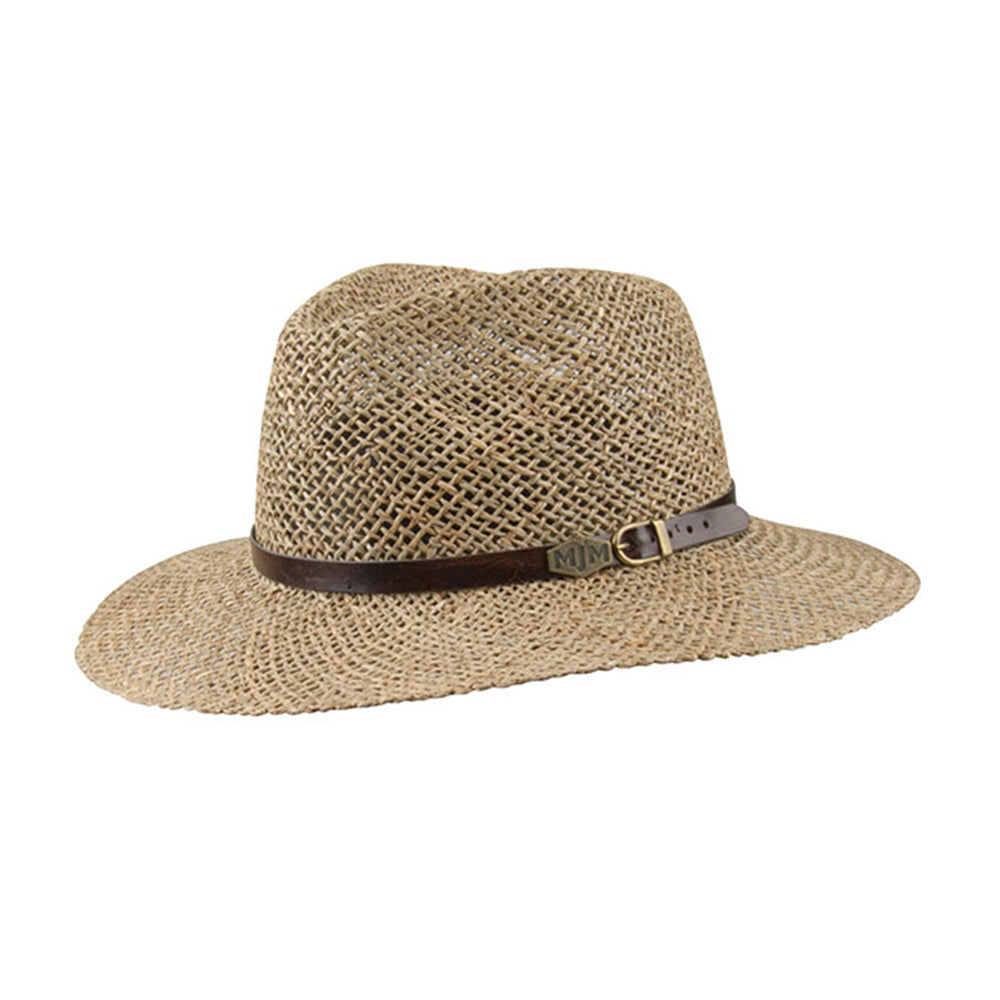 MJM Hats Austin Straw Hat Natural Beige