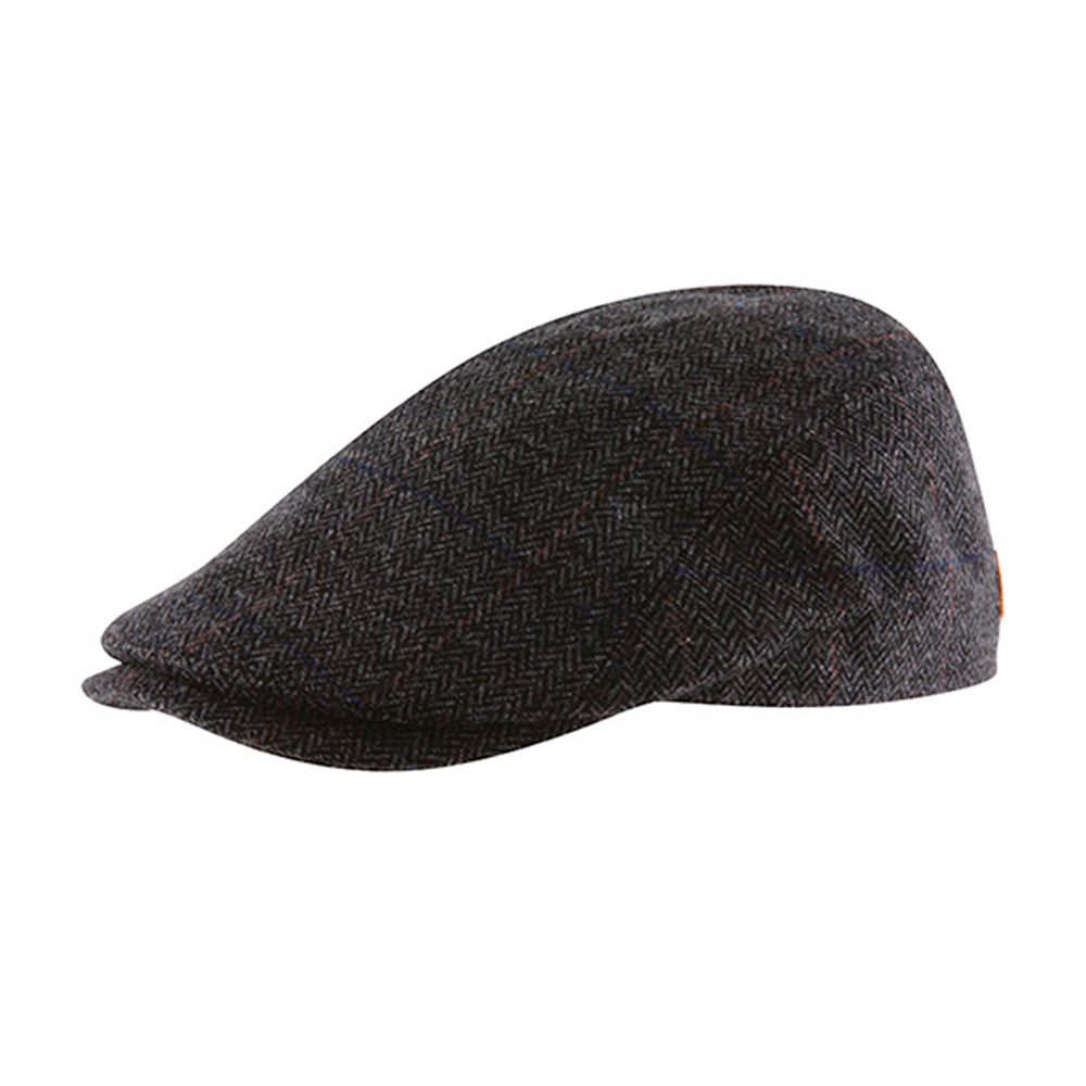 MJM Hats Bang Sixpence Flat Cap Anthracite Grey Grå 01D74580B95