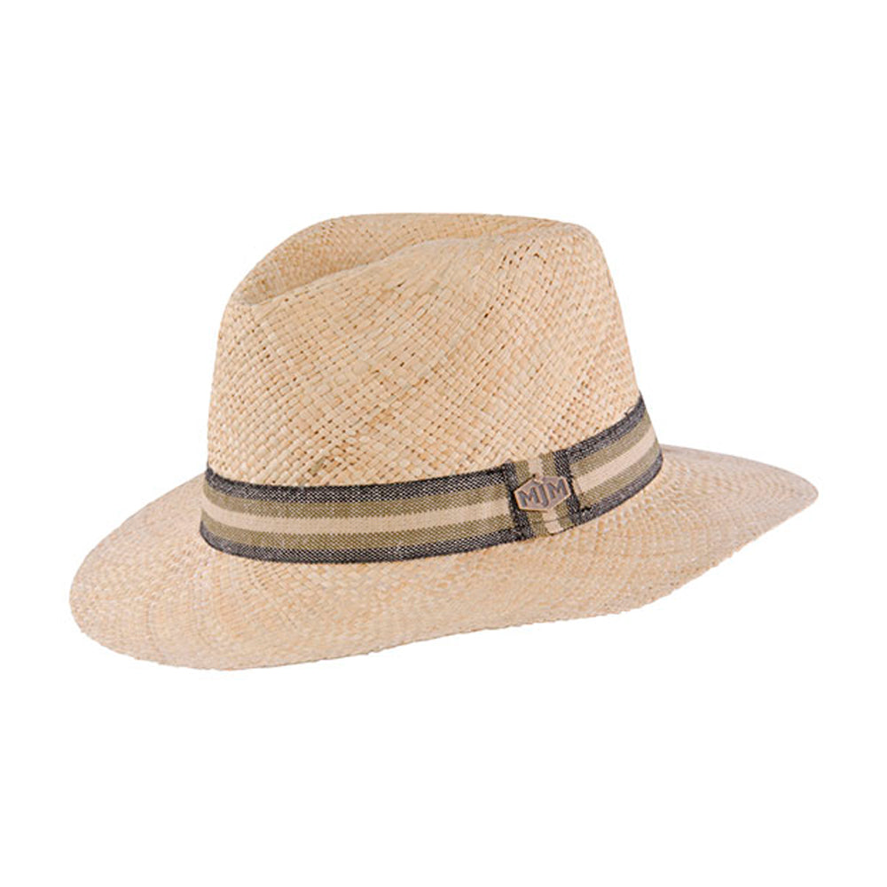 MJM Hats Charlie Straw Hat Natural Beige