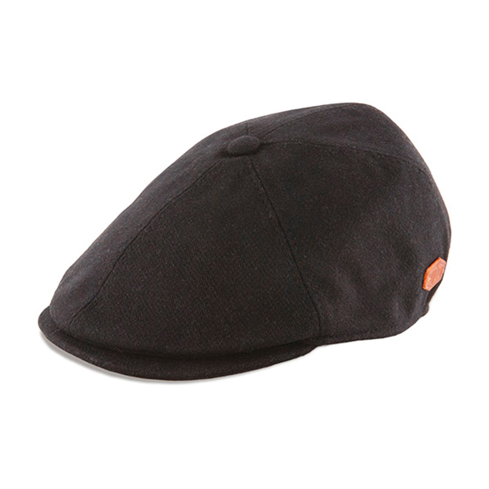 MJM Hats Floyd Sixpence Flat Cap Black Sort 01I85580100