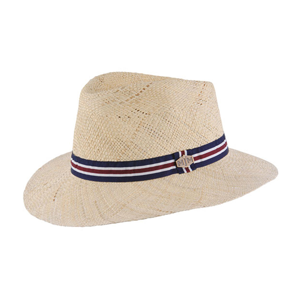 MJM Liam Straw Hat Natural Beige