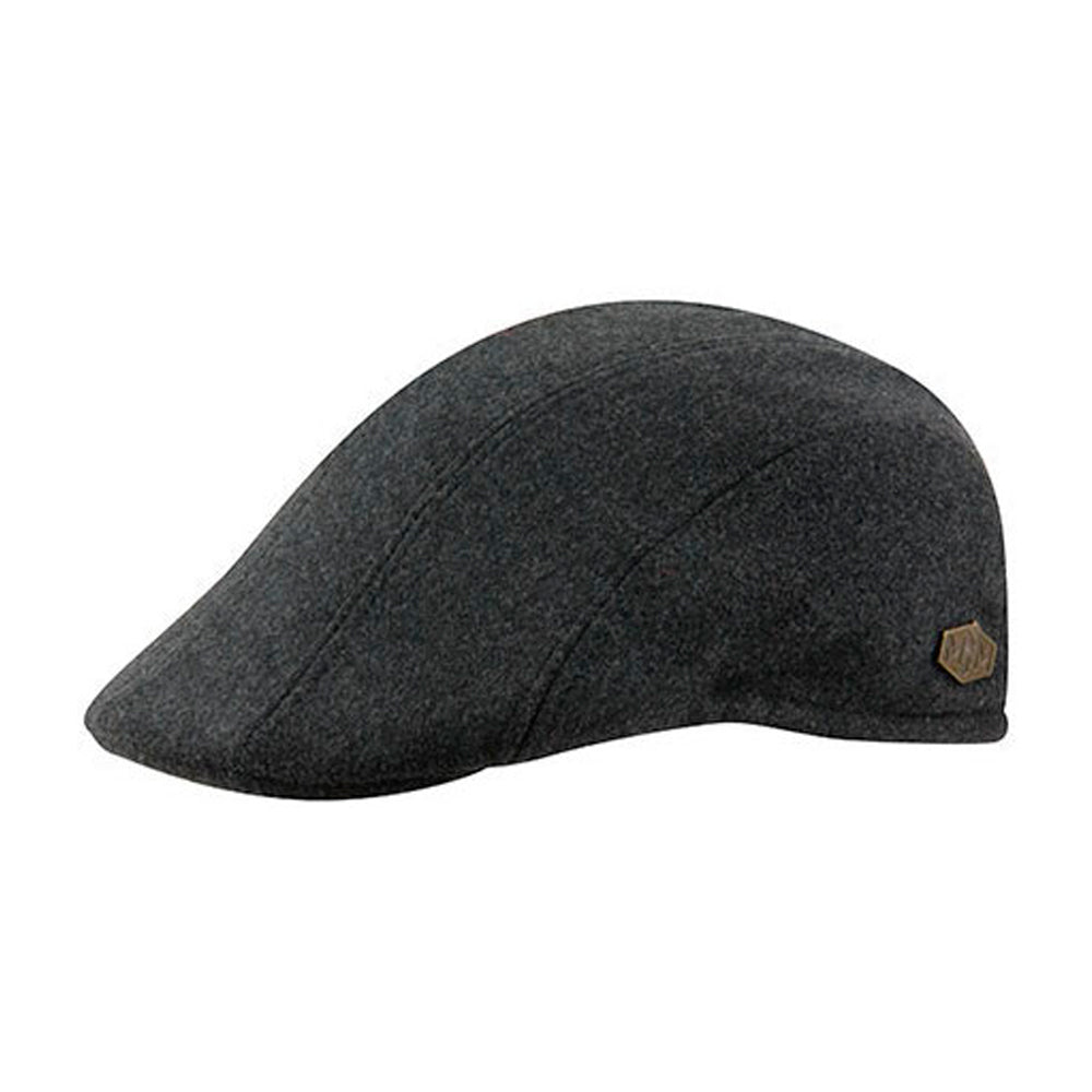 MJM Hats Maddy EL Sixpence Flat Cap Grey Anthracite Grå